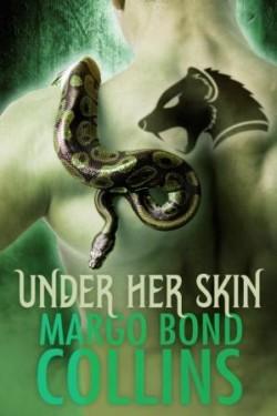 Snake on Back and Shoulder of Naked Muscular Man